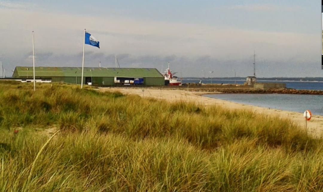 Blåt flag på Trekanten i Hundested. Grundlovsdag