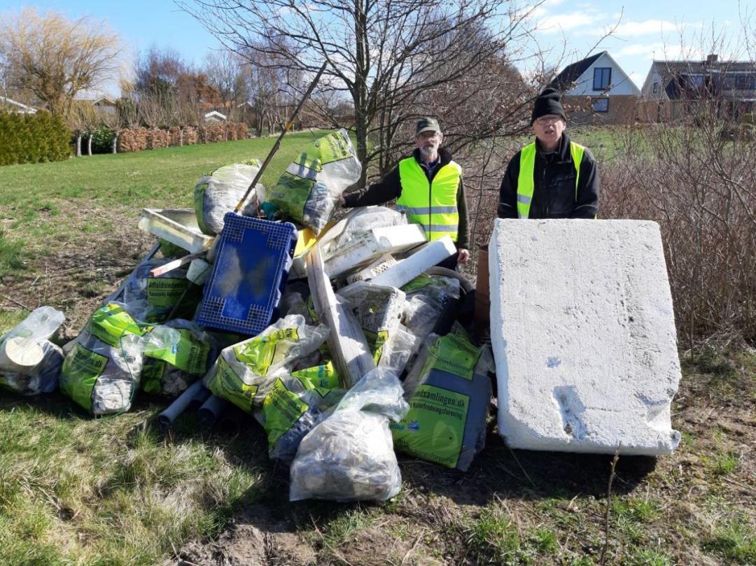 Affaldsindsamling på Enø