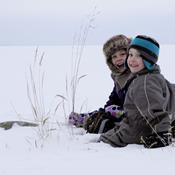 Leg med vinterens første sne