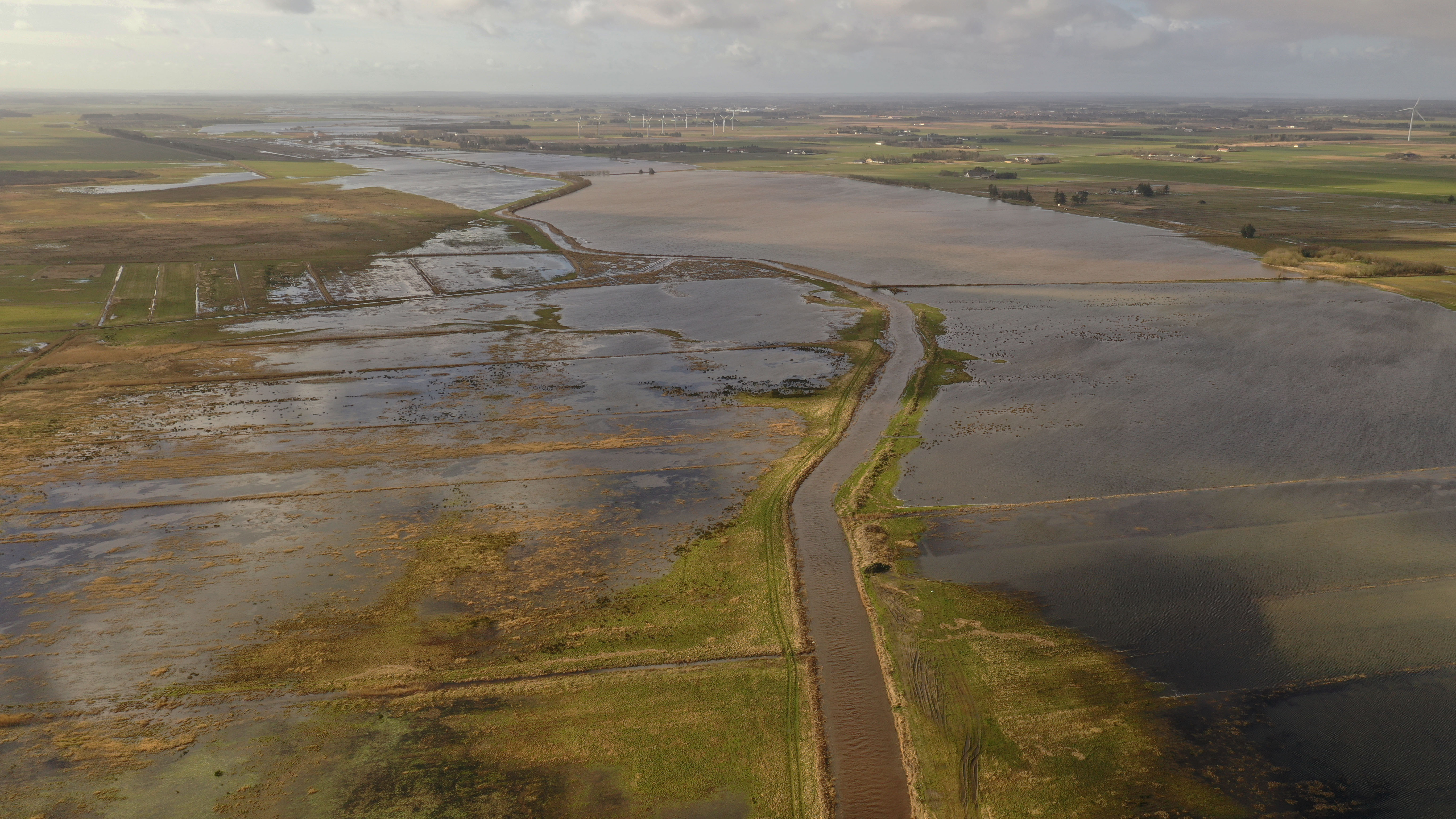Massive oversvømmelser efter opgravning af Nordjysk Å