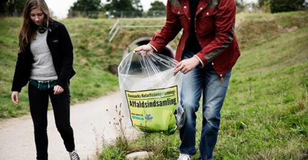 Affaldsindsamling langs Falen