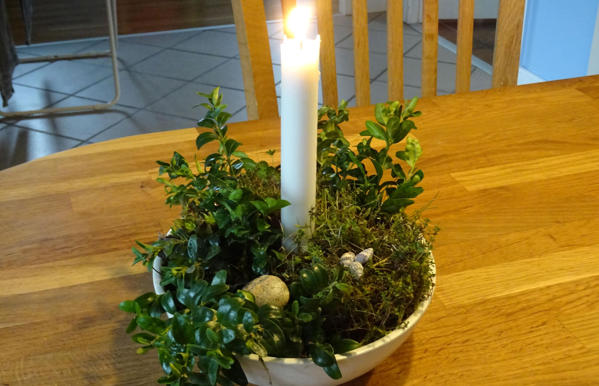 juledekorationer med mos